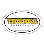 Tanaka Surfboards Oval Sticker