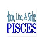 Pisces Square Sticker 3
