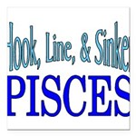 Pisces Square Car Magnet 3