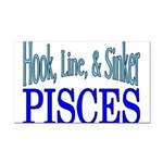 Pisces Rectangle Car Magnet