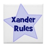 Xander Rules Tile Coaster