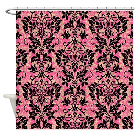No Tools Curtain Rod Red Shower Curtain