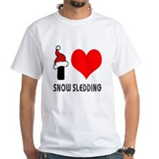 I Love Snow Sledding Shirt