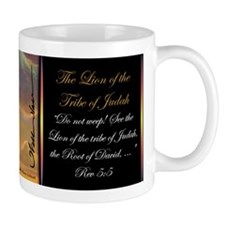 """The Lion of Judah"" Fine Art Christian Mug"