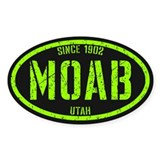 Moab Distressed Lime Decal