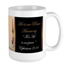 """He is our peace"" Fine Art Large Coffee Mug"