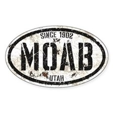 Moab White Black Grunge Decal