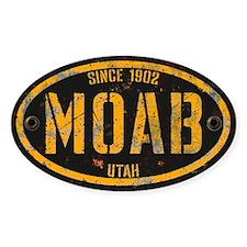 Moab Grunge Rivet Gold Decal