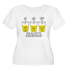 Glass Half Full Empty Pee Funny T-Shirt Plus Size