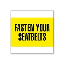 Fasten Your Seatbelt Sticker