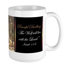"""Peaceful Dwelling"" Fine Art Wolf Mug"