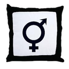 Male Female Symbols Throw Pillow