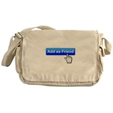 Add As Friend Funny T-Shirt Messenger Bag