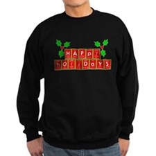 happy holidays letters.png Sweatshirt