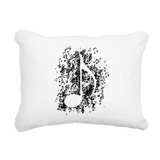 Note Explosion Rectangular Canvas Pillow