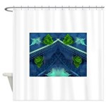 Shower Curtain Feathers,Flowers & Beads
