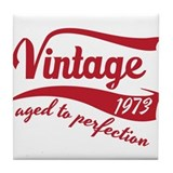 1973 aged to perfection birthday design in red Til