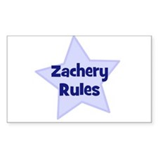Zachery Rules Rectangle Decal