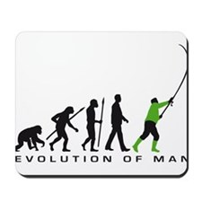 evolution of man fisherman Mousepad