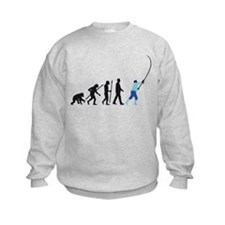 evolution of man fisherman Sweatshirt