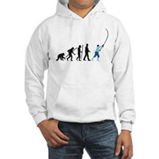 evolution of man fisherman Hoodie