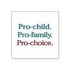 Pro-Choice Rectangle Sticker