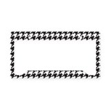 Houndstooth License Plate Holder