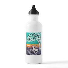 Greyhound spiritual tree Water Bottle