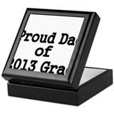 Proud Dad of 2013 Grad-Black Keepsake Box