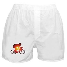Sunset Bicycle Rider Boxer Shorts
