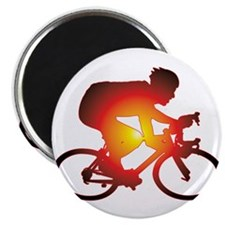 "Sunset Bicycle Rider 2.25"" Magnet (10 pack)"