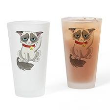 Unlucky Grumpy Cat Drinking Glass
