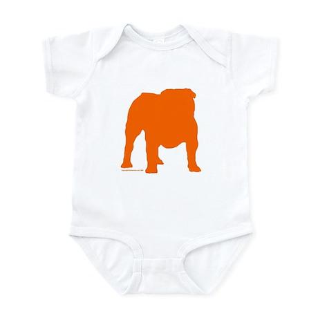 Orange Bulldog Silhoutte Infant Bodysuit
