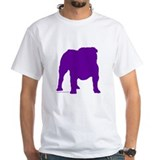 Purple Bulldog Silhoutte Shirt
