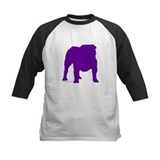 Purple Bulldog Silhoutte Tee