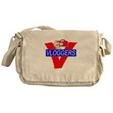 V for Vloggers with Camera Messenger Bag