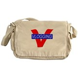 V for Vlogging Messenger Bag