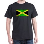 Jamaica Jamaican Flag Black T-Shirt
