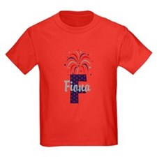 4th of July Fireworks letter F T-Shirt