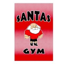 Santa's Gym Postcards (Package of 8)