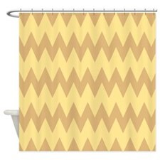 Yellow Tan And Brown Zigzag Shower Curtains Yellow Tan And Brown Zigzag Fabric Shower
