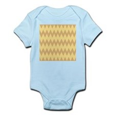 Tan and Light Brown Zigzags. Body Suit
