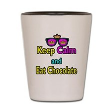 Crown Sunglasses Keep Calm And Eat Chocolate Shot