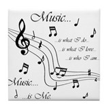 Music is Me Tile Coaster