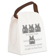 Castle Under Arrest Canvas Lunch Bag