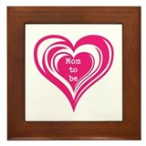 Pink Triple Heart Mom To Be Framed Tile