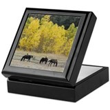 Grazing Horses Custom Keepsake Box