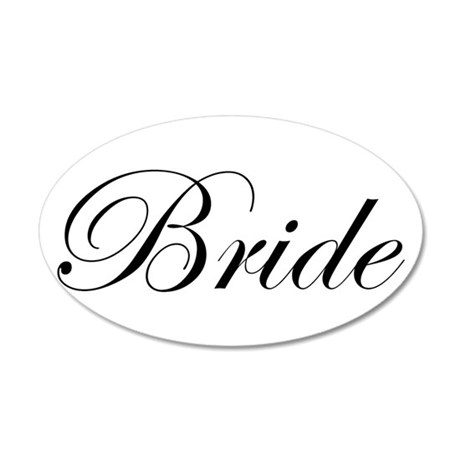 Bride's 20x12 Oval Wall Decal