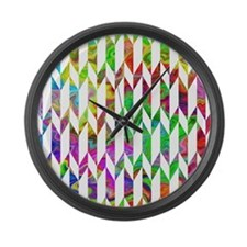 Colorful pattern. Large Wall Clock