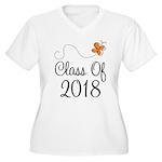 Class of 2018 Butterfly Women's Plus Size V-Neck T